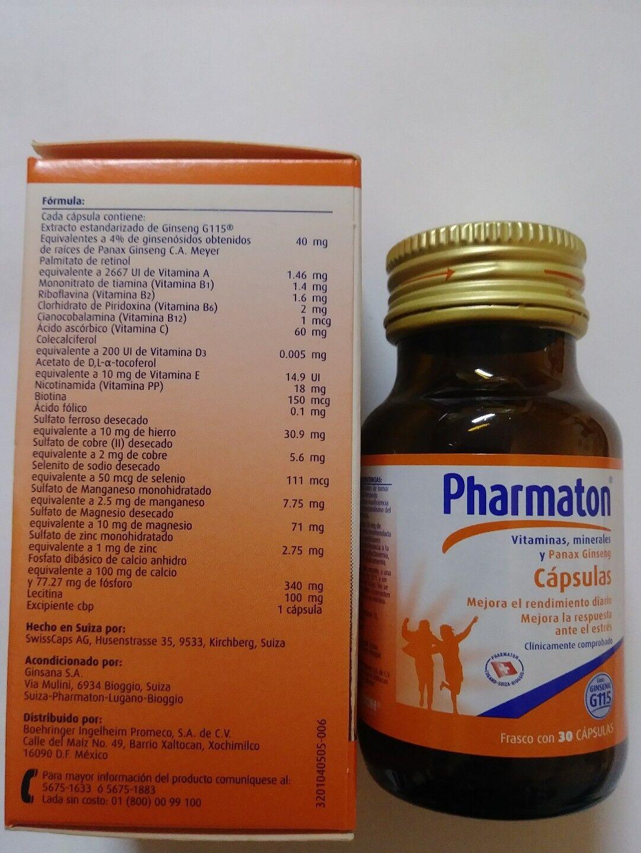 Pharmaton with ginseng G115 30 capsules/Pharmaton con ginseng G115 30 cápsulas 6