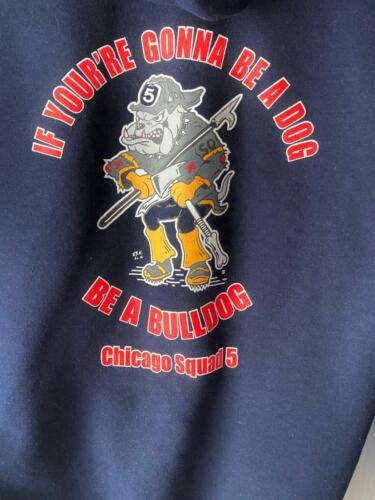 """CHICAGO FIRE DEPT. SQUAD 5 """"BULLDOGS"""" HOODIE - SIZE L"""