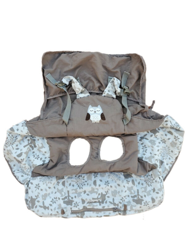 Eddie Bauer Baby Toddler Child Shopping Cart or high chair Cover Brown Grey Owl