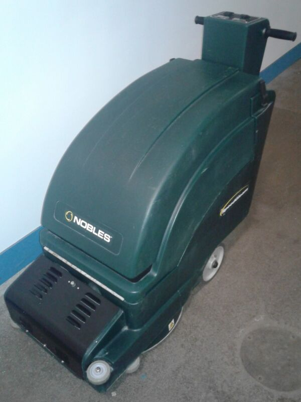 Tennant Nobles SpeedGleam Dust Control Burnisher.  Walk Behind.Battery Operated.