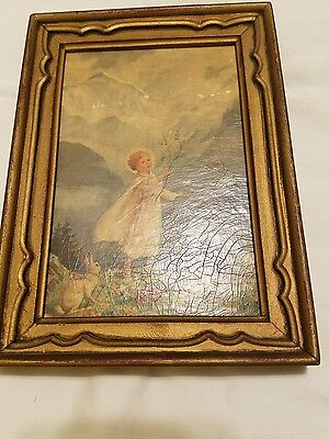 "Collectable Margaret Tarrant framed art ""How Beautiful upon the Mountains"" 1950"