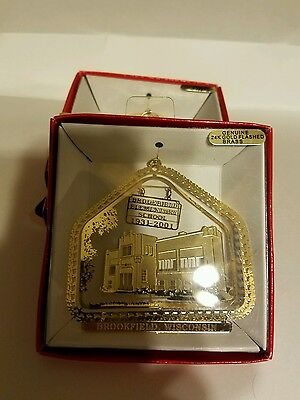 Brookfield School 1932-2001 Brookfield Wisconsin  Brass Christmas Ornament