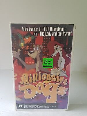 Millionaire dogs ex rental Eagle entertainment rare VHS video tape GC