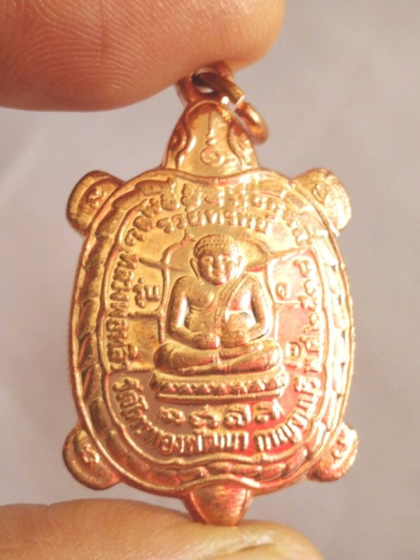 Pendant Tao Turtle LP Liew # Rich Amulet Thai Talisman success healthy long life