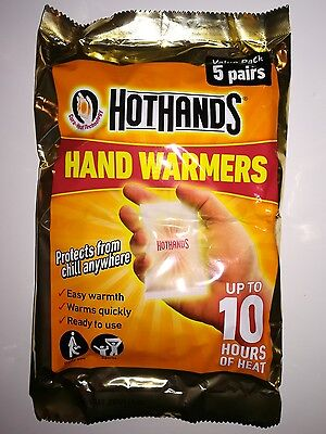 HotHands - Hand Warmers Outdoors Sports Warming - 5 Pair Pack - 10hrs Heat