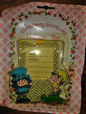 vintage strawberry shortcake luggage 1980s nos very rare!