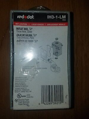 Red Dot Reddot Wet Electrical Outlet Box Three 3 Hole Silver Ih3-1-lm 8d121913