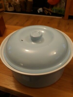 SAINSBURYS TU CASSEROLE DISH WITH LID.....10ins ACROSS...4ins depth.....