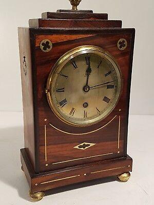 Fantastic Quality Rosewood English Bracket Clock. Superb Case for restoration