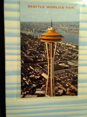 AERIAL VIEW POST CARD SEATTLE WORLD'S FAIR SPACE NEEDLE SEATTLE WASHINGTON