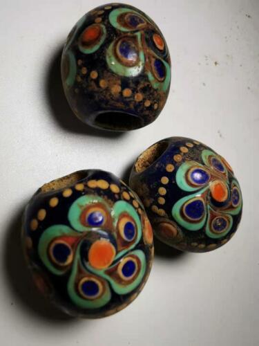 Chinese Translucent Glass beads azure stone colored glaze pendant beads 008#
