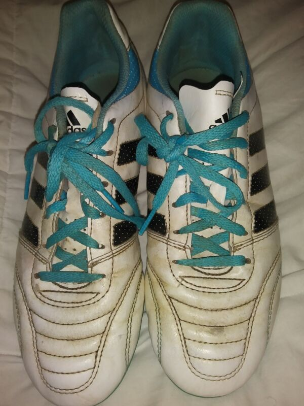 Women's Adidas Soccer Cleats Size 7: Blue Black White Shoes Football