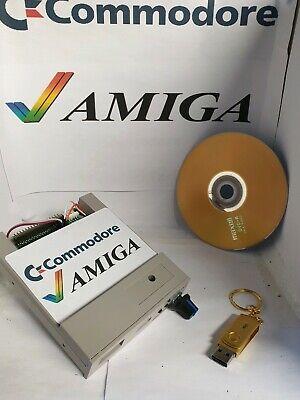 Fully Loaded Commodore Amiga Flash Floppy Gotek Drive Grey