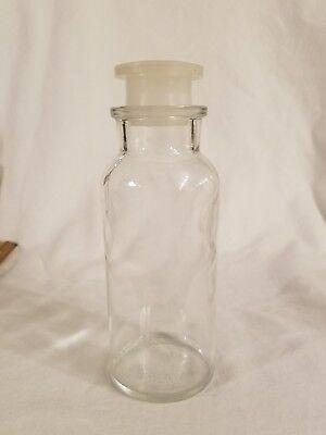 Vintage TCW TC Wheaton Co. Clear Plastic Top Medicine Prescription Bottle 1950's