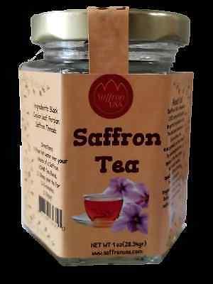 (High Quality Saffron Tea Mix of Ceylon Black leaf with best Saffron in US market)