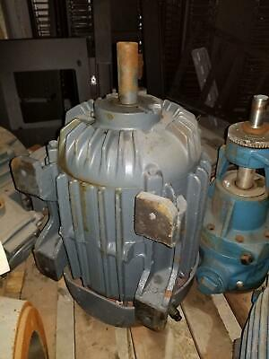Allis-chalmers Gzz Industrial Induction Motor 256u Frame 15 Hp 3500 Rpm