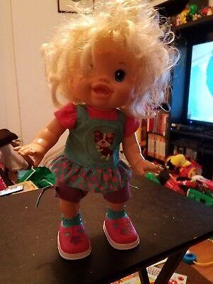 Baby Alive 2011 I Wanna Walk Blonde Doll Hasbro Walks Talks Works for sale  Saint Charles
