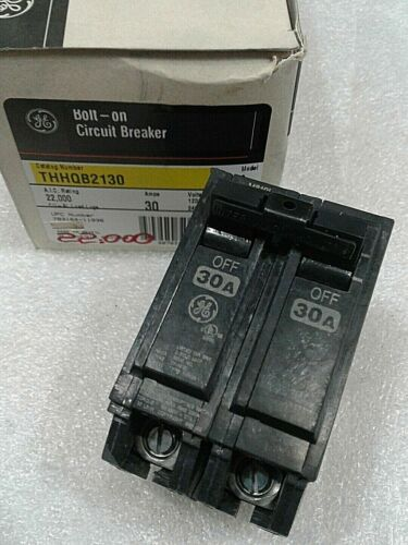 THHQB2130 GENERAL ELECTRIC CIRCUIT BREAKER 2 POLE 30 AMP 240 VAC NEW!