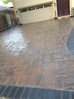 Landscaping Interlocking patio Deck and fence