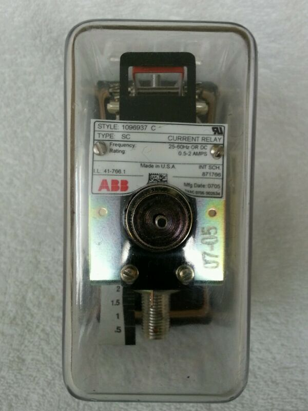 ABB Current 1096937C Relay - NOS