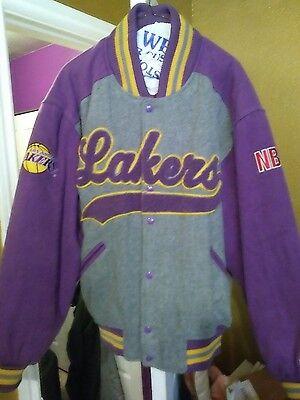 Vintage La Lakers Throwback Wool Varsity Starter Jacket Large Nice!