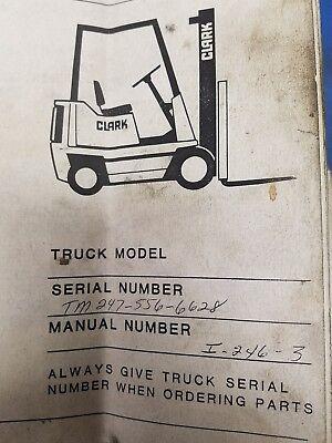 Clark Forklift Tm 247 Parts Manual