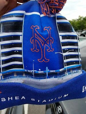BRAND NEW YORK METS SHEA STADIUM BEANIE WINTER HAT RARE HOT MLB  - Mets Winter Hat