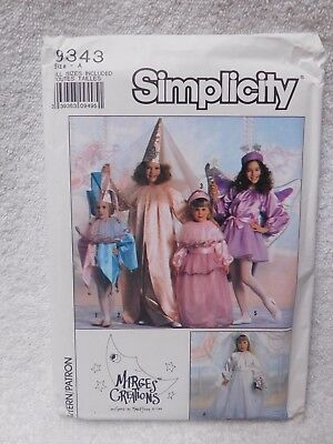 Simplicity #9343 Kids Jester, Princess, Bride and Fairy Costumes Sewing Pattern