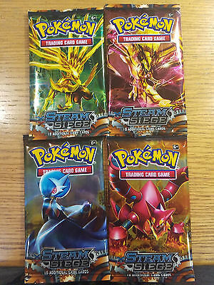 4 packs Pokemon Steam Siege New And Sealed 8 Cards/Pack Free ship I Choose You!