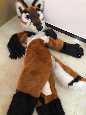 Luxury Husky Dog Mascot Costume Wolf Fox Parade Cosplay Animal Fancy Dress Adult - Dog Fox Costume