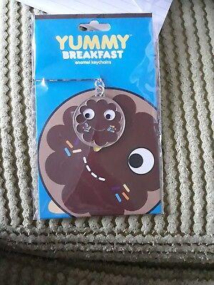 Yummy Kidrobot metal keyring Brown donut doughnut  by Heidi Kenney