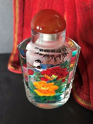 Old Chinese Sniff Bottle Hand Panted from the inside  …beautiful collection item