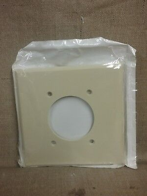 New Leviton Dryer Almond Outlet Wall Plate Cover 80526-l - Qty 1 Dryer Wall Plate