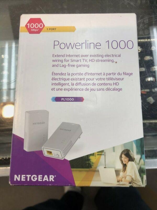 NETGEAR Powerline 1000 Mbps, 1 Gigabit Port (PL1000-100PAS) Brand New