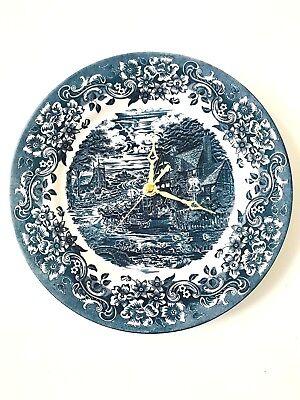 Staffordshire Cobalt Blue 17th Century Scenic 10 3/4