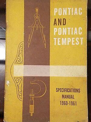 1960 61 Pontiac & Tempest Specifications Manual Original (Pontiac Bonneville Specifications)
