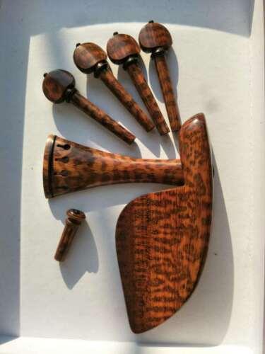 Excellent violin fittings 4/4 snake wood hand carved