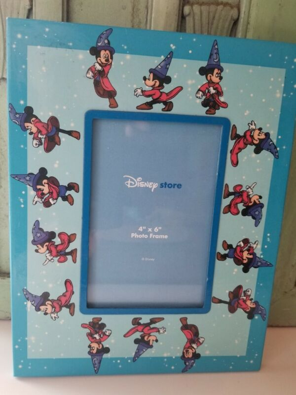 DISNEY STORE Picture Frame 4x6 Mickey Mouse Sorcerer