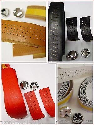 Nastro manubrio in pelle traforato per Corsa Eroica Leather Bar Tape