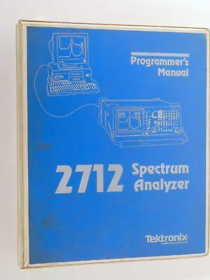 1991 Tektronix 2712 Spectrum Analyzer Programmers Manual