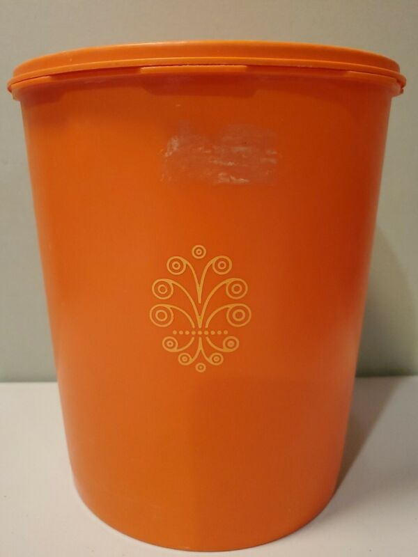 Tupperware Large Orange Canister 1339-3 and Servalier Seal 1205-10