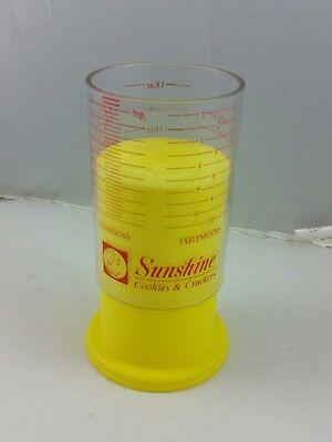 #D# Vintage Advertising Plastic Measuring Cup SUNSHINE