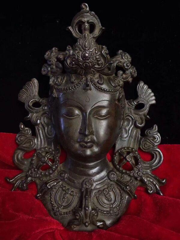 Chinese Tibetan Buddhism Old copper handmade Build Tara Avatar