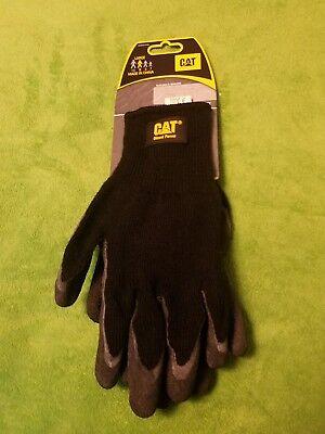 Cat Diesel Power Latex Palm Work Gloves L New