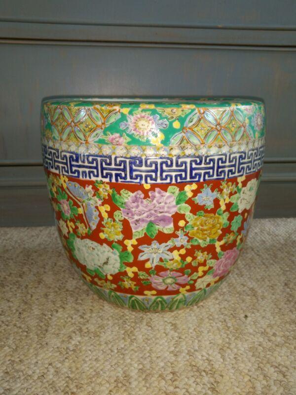 Antique Japanese Imari Type Porcelain Planter