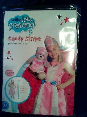 Girls dress up outfit candy stripe  princess costume new 3/4yrs Candy Dress Up