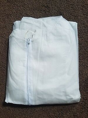 .radnor Xl Disposable White Protective Suits With Hood Boots