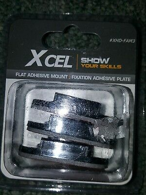 Brand New X Cel  Flat Adhesive Mounts  Xhd Fam3  Xcel 3 Flat Adhesive Mounts
