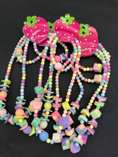 Wholesale 24pcs Children Kid Fun Bead Necklace Bracelet Jewelry 12Set party gift