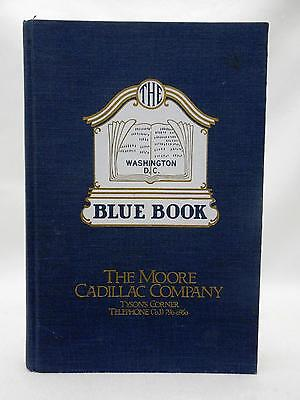 The WASHINGTON DC Blue Book 1979 Cover has Ad for MOORE CADILLAC CO